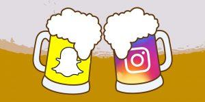 médias sociaux et bières