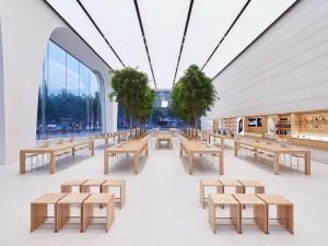 Intérieur de l'Apple Store à Bruxelles