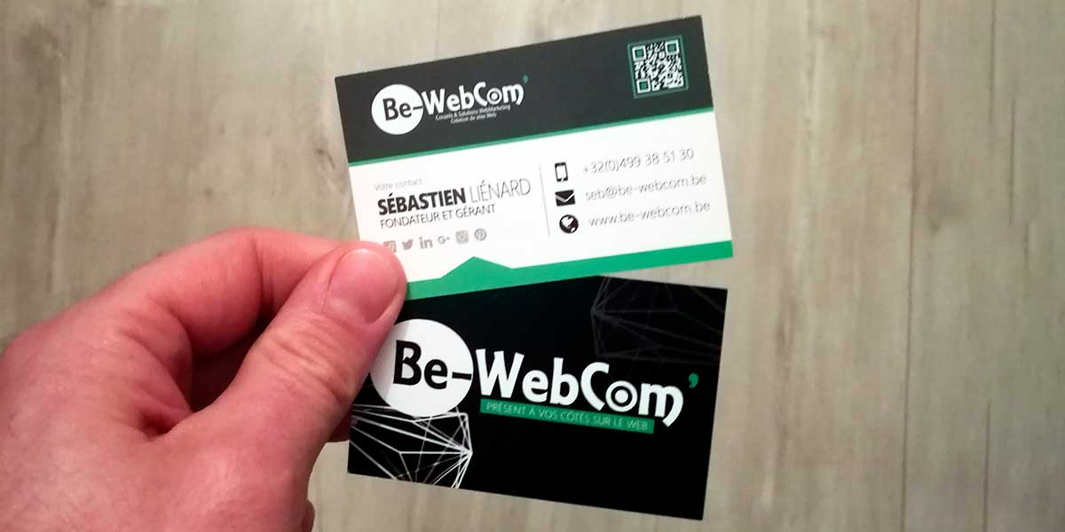 Logo et carte de visite   Agence Web Be-WebCom  - Be-WebCom  b7889bbe0d3